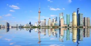 Shanghai bund lujiazui landmark skyline Stock Images