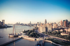 Shanghai the bund in morning Royalty Free Stock Photo