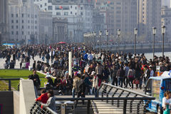 Shanghai: the bund during a national holiday Stock Image