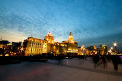 Shanghai Bund at Night Royalty Free Stock Photos