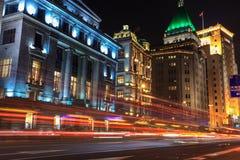 Shanghai bund at night Royalty Free Stock Photo