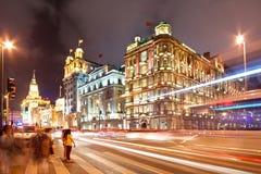 Shanghai Bund at Night Royalty Free Stock Photography