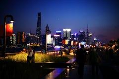 Shanghai Bund at Night stock images