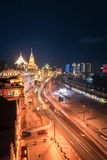Shanghai bund night view Stock Photography