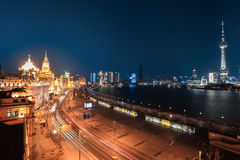Shanghai bund night view Stock Images