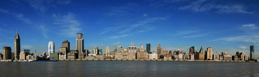 Shanghai The Bund - Panorama royalty free stock images