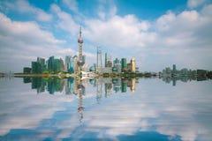 Shanghai Bund at skyline Royalty Free Stock Photo