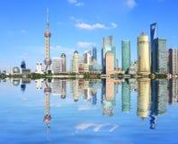 Shanghai Bund at skyline Stock Photos