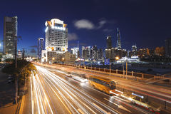 Shanghai Bund skyline modern buildings night scene Royalty Free Stock Photo