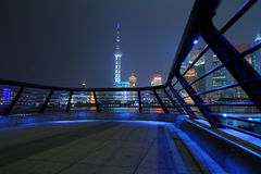 Shanghai bund skyline at night city landscape Stock Images