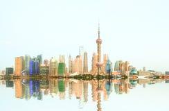 Shanghai bund skyline at night. Shanghai bund Lujiazui skyline at night Royalty Free Stock Photo