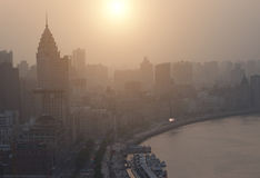 Shanghai bund in sunset Royalty Free Stock Image