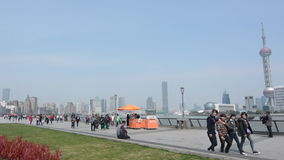 Shanghai - The Bund or Waitan stock footage
