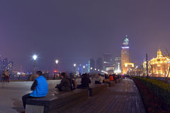 Shanghai - The Bund or Waitan Stock Images