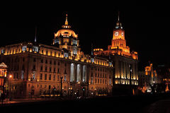 Shanghai  bund waitan evening Stock Image