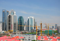 Shanghai cangiante Immagine Stock Libera da Diritti