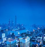 Shanghai center of the night Stock Image
