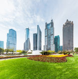 Shanghai central greenland with modern buildings Stock Photography