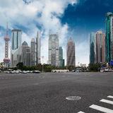 Shanghai century avenue. The street scene of the century avenue in shanghai,China Royalty Free Stock Photo