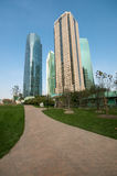 Shanghai Century Avenue Park. Shanghai Pudong Century Park Skyline in China Royalty Free Stock Image