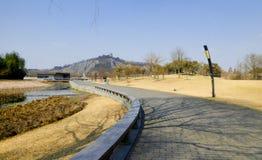 Shanghai Chen Shan Botanical Garden road Royalty Free Stock Image