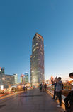 Shanghai, China - April 30, 2017 : building at Lujiazui. Royalty Free Stock Photo
