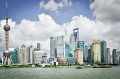 Shanghai, China - 6. August 2011: genommen von der Promenade Lizenzfreies Stockbild