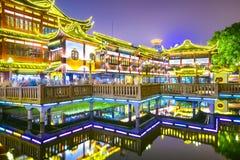 Shanghai, China bij Yuyuan-Tuinen Stock Foto's