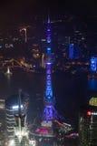 Shanghai, China - circa September 2015: Oriental Pearl Tower, Shanghai by  night Stock Photo