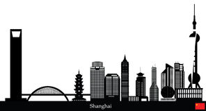 Shanghai china city skyline Royalty Free Stock Photos