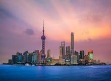 Shanghai, China city skyline Royalty Free Stock Images