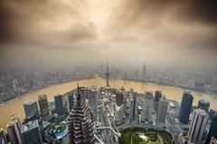 Shanghai, China City Skyline Royalty Free Stock Image