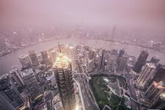 Shanghai, China City Skyline Royalty Free Stock Images