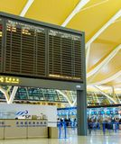 Departure hall at Shanghai airport Stock Photography