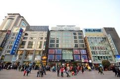 Nanjing Road Pedestrian Street in Shanghai Stock Photography