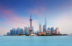 Shanghai, China. Shanghai downtown with skyscrapers, China stock photo