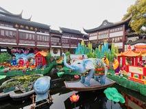 Shanghai, China - Feb 2, 2016: Laternen-Festival im Chinesischen Neujahrsfest (Affejahr) Lizenzfreie Stockbilder