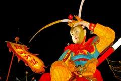 Shanghai, China - Februari 2, 2016: Lantaarnfestival in het Chinese Nieuwjaar (Aapjaar) Royalty-vrije Stock Fotografie