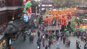 Shanghai, China - fevereiro 2, 2016: Festival de lanterna no ano novo chinês (ano do macaco) Imagem de Stock Royalty Free