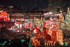 Shanghai, China - fevereiro 2, 2016: Festival de lanterna no ano novo chinês (ano do macaco) Foto de Stock