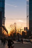 SHANGHAI, CHINA - JANUARY 20, 2017: twilight in evening at South Royalty Free Stock Photos