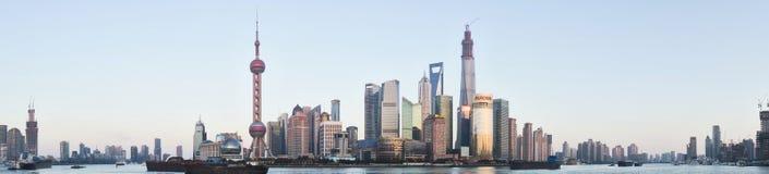 Wai Tan Panorama. Shanghai, CHINA - JANUARY 4, 2014 : Wai Tan Panorama Royalty Free Stock Images