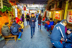 SHANGHAI, CHINA - 29 JANUARY, 2017: Walking around the french concession district of Shanghai, popular destination for Stock Photography