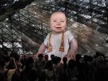 Huge animated baby mannequin displayed inside the Spanish pavilion at the site of the World Expo 2010 in Shanghai royalty free stock photography