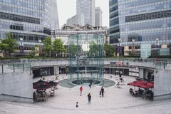 Apple store in Shanghai, China. SHANGHAI, CHINA - MAY 05, 2016: The Apple store at the IFC Mall in Lujiazui Financial District royalty free stock photo