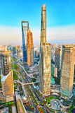 SHANGHAI,CHINA- MAY 24 :Beautiful and office skyscrapers, city b Royalty Free Stock Photo