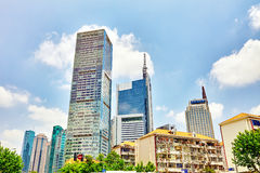 SHANGHAI, CHINA- MAY, 24, 2015: Beautiful skyscrapers, city buil Royalty Free Stock Image
