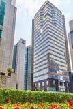 SHANGHAI, CHINA- MAY, 24, 2015: Beautiful skyscrapers, city buil Stock Image