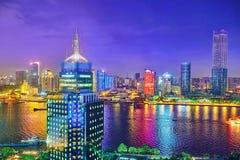 SHANGHAI, CHINA - MAY 23, 2015:Beautiful view of  Shanghai -  Bu Royalty Free Stock Image