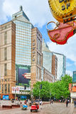 SHANGHAI, CHINA - MAY 24, 2015:Beautiful view of Shanghai street Royalty Free Stock Photography